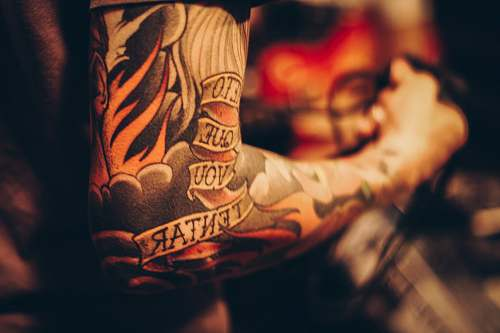 tattoo men's arm tattoo clothing