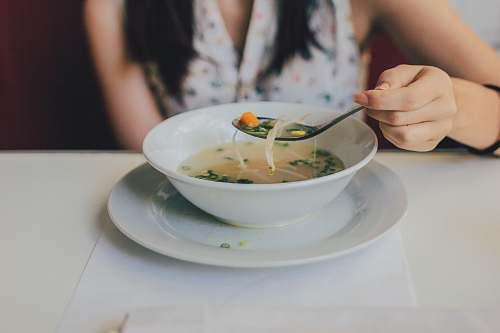 food white ceramic bowl bowl