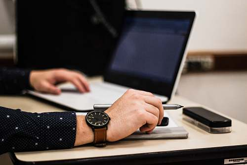 laptop person using laptop computer