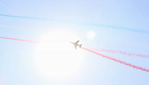 airplane plane on sky during daytime transportation