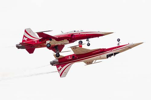 airplane red and white fighting plane transportation