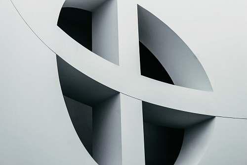 text round white cross wlal symbol