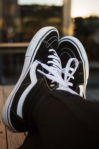 clothing black-and-white Vans high-top sneakers shoe