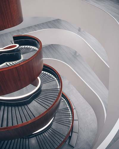interior brown spiral staircase stairs