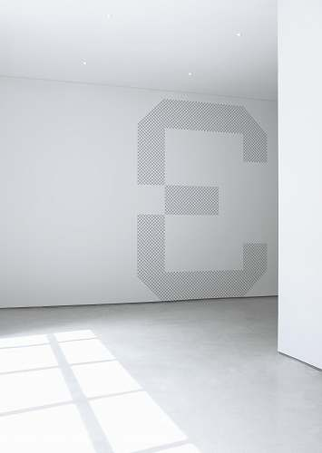 white photo of white concrete wall inside room grey