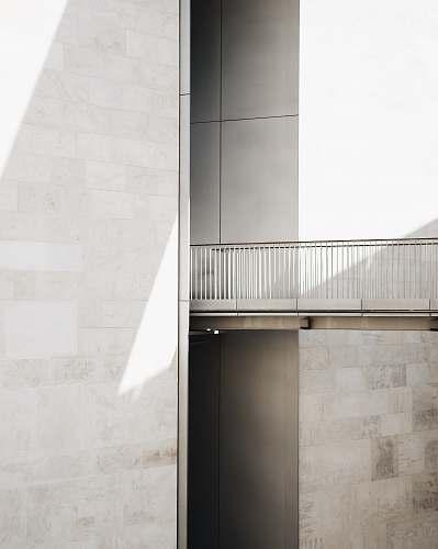 white white concrete bridge grey