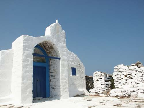 building white concrete house under blue sky amorgos