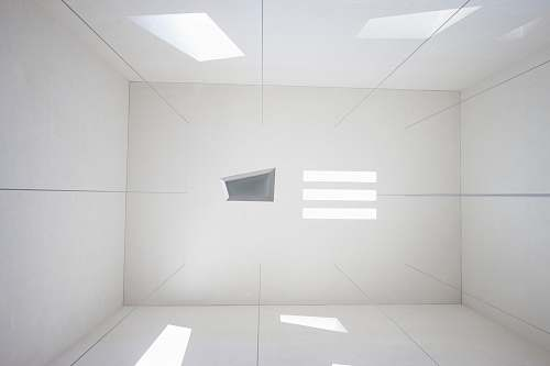 lighting white room blue