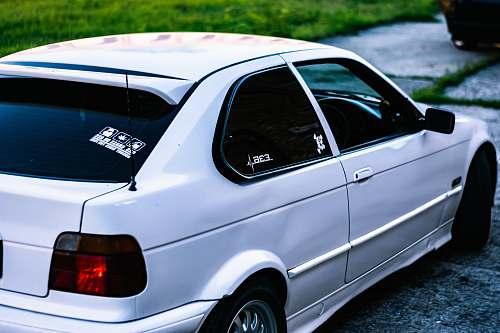 car white 3-door hatchback transportation