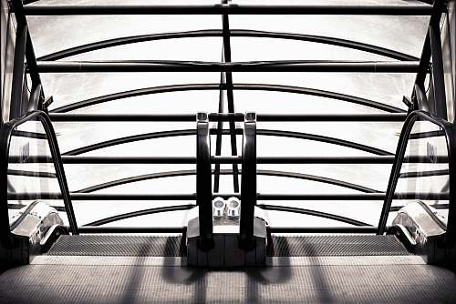 handrail black metal frame furniture