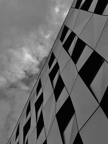 nature black and white building wall across white clouds building