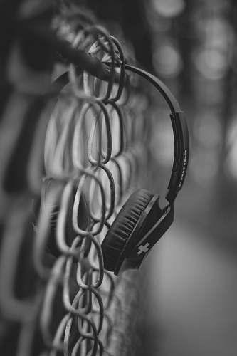 grey black headphones close-up photography electronics