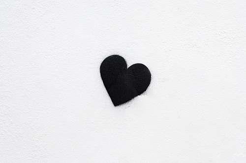 heart black heart black