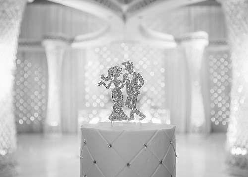 grey couple dancing wedding decor indoors