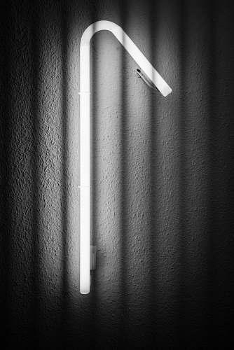 grey curved white fluorescent light zürich