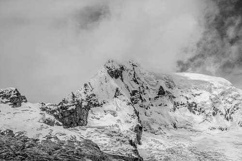mountain fog on top of mountain nature