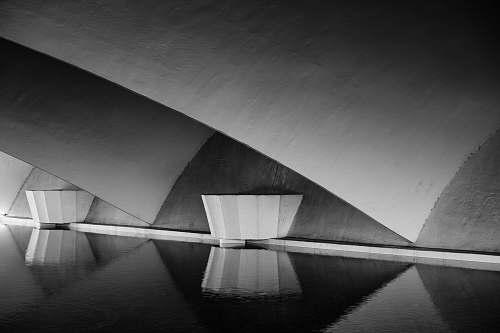 architecture gray bridge platform panoramic photo grey