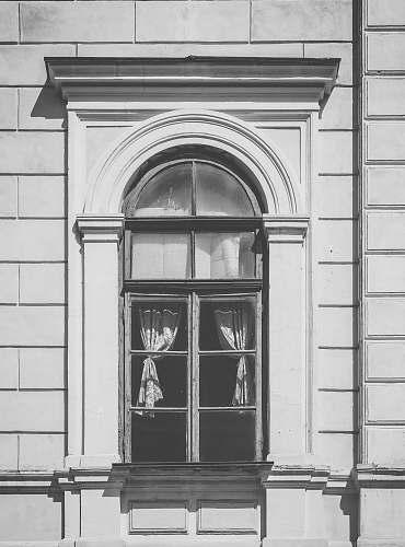 grey gray concrete window frame window