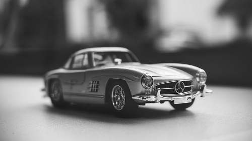 car gray Mercedes-Benz vintage toy car automobile