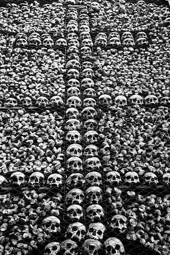 rug gray skull lot crowd