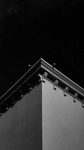 grey grayscale photo of building nature