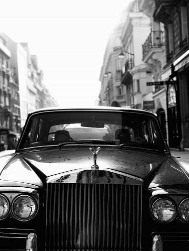 automobile grayscale photo of car car