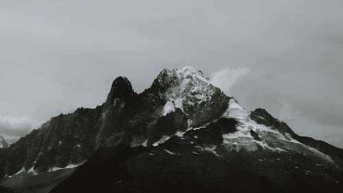 mountain grayscale photo of mountain nature