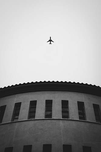 aircraft grayscale photo of plane airplane