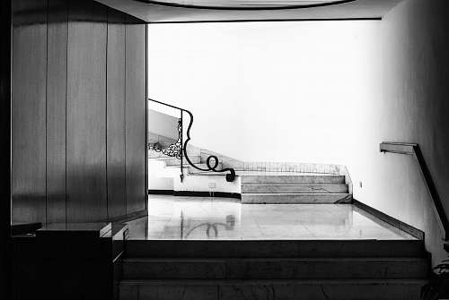 milan grayscale photo of staircase italy