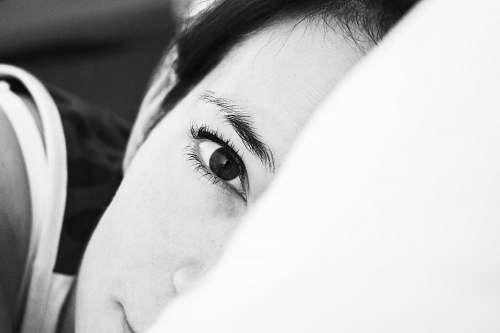 person grayscale photo of woman portrait