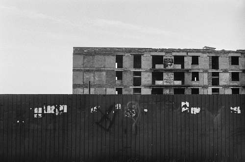 photo grey grayscale photography of abandoned building shipping container free for commercial use images