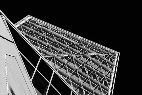 photo architecture grayscale photography of building triangle free for commercial use images