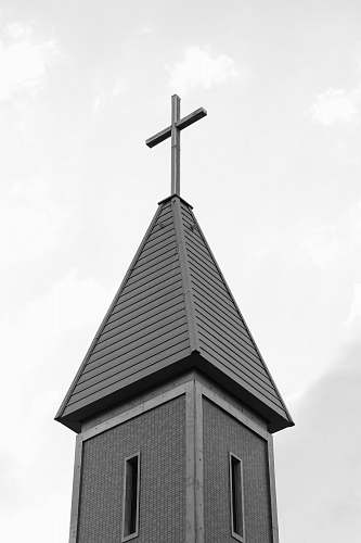 architecture grayscale photography of church building