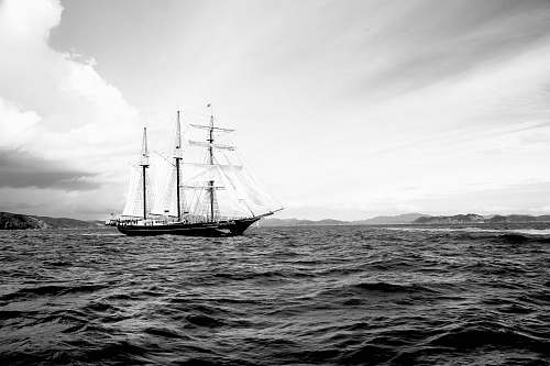 photo transportation grayscale photography of galleon ship on waters vessel free for commercial use images