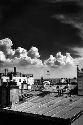 nature grayscale photography of housed weather