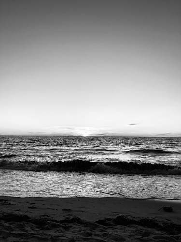 nature grayscale photography of ocean waves ocean