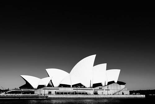 building grayscale photography of Sydney Opera House in Australia australia