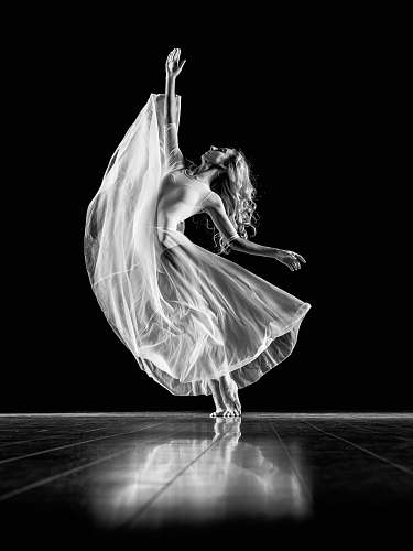 dance grayscale photography of woman doing ballet dancer