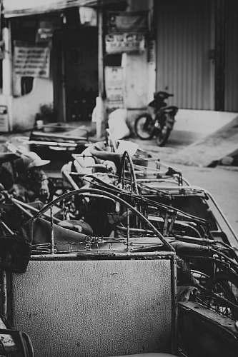 grey greyscale photography of engine machine