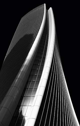 architecture high-rise curtained wall building grayscale photography skyscraper