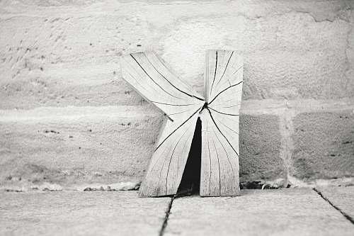 wood K letter decor art