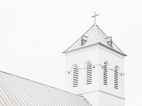 building low angle photo of white church church