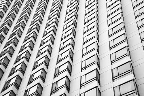 architecture minimalist photography of high-rise building building