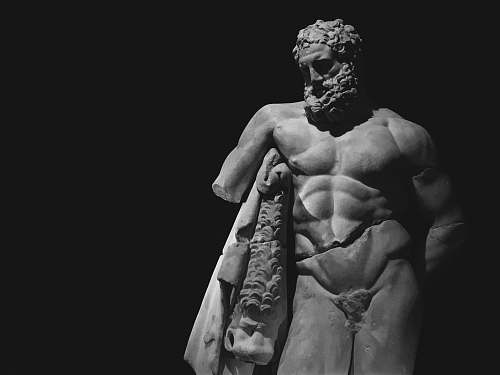 sculpture naked man concrete statue statue