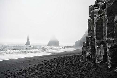 nature rock formations at the shore ocean