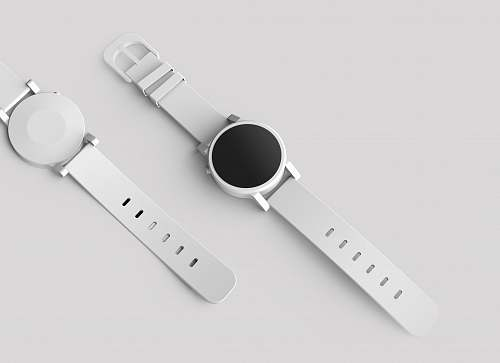 product round white watch with white band object