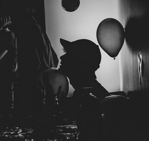 balloon silhouette of man ball