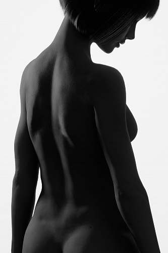 human silhouette of naked woman back