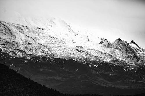 mountain snow-covered mountain nature