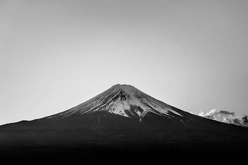 mountain snow covered top mountain on grayscale photo nature